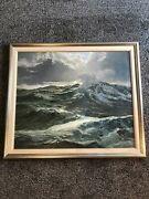 Large Original Oil Painting By Frederic Tellander Signed And Dated 1949