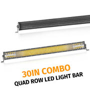 30and039and039 Inch Quad-row Led Work Light Bar Combo Offroad Driving Lamp Truck Atv 6000k