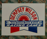 Vintage Original Dempsey Wilson Cams Water Decal Dragster Nhra Hot Rod Old Scta