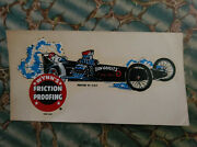 Vintage Original Wynnand039s Friction Proofing Water Decal Don Garlits Dragster Nhra
