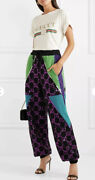 Sequin-embellished Wool Track Pants- With Tags- Rrp4900 Aud