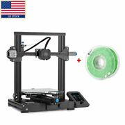 Creality Ender-3 V2 3d Printer Meanwell Power Motherboard 220220250mm+filament