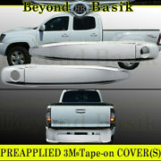 For 2005-2008 Toyota Tacoma 2dr Chrome Door Handle Covers W/psk+tailgate Cover