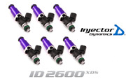 Injector Dynamics 2600-xds Fuel Injector 6pc 60mm For Porsche / Toyota / Pontiac