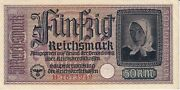Germany - German Occupied Territories Wwii - 50 Reichmark 1940-1944 - Vf