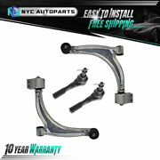 2 Front Lower Control Arm + 2 Front Outer Tie Rod End For 2004-2012 Chevy Malibu