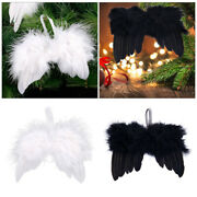 10-50x Real Feather Angel Wings Shabby Chic Christmas Tree Hanging Decorations
