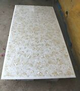 Marble Lawn Table Top Mother Of Pearl Inlay Work Coffee Table For Home Decor