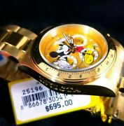Menand039s Disney Mickey Mouse Limited Edition Chronograph 25196 Gold Watch