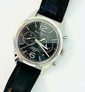 Bell And Ross Vintage Original Black Chronograph Br126-94-ss Automatic Menand039s Watch