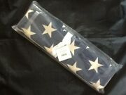 Pottery Barn American Flag Table Runner 18x108 Red/neutral/blue New