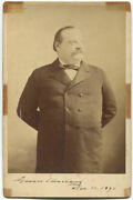 1891 Grover Cleveland Signed Cabinet Photograph