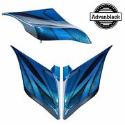 Daytona Blue Airbrush Stretched Extended Side Cover Fits Harley Touring 2014+