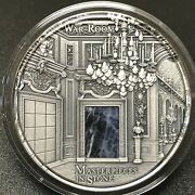 Fiji 2018 Masterpieces In Stone The War Room 3oz Antique Finish Silver Coin.