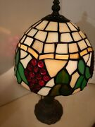 Style Stain Glass 15.5 Inch 3 Way Switch. Lamp