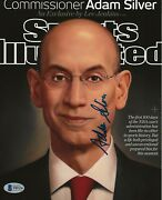 Adam Silver Commissioner Signed Sports Illustrated Cover 8x10 Photo Bas Beckett