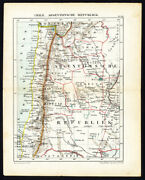 Antique Map-south America-republic Of Argentina-chile-jacob Kuyper-1880