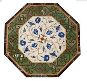 Octagon Shape Marble Lawn Table Top With Antique Work Coffee Table Home Assents