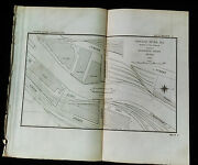 1897 Sketch Map Of Chicago River 18th Street Bridge Elevated Train