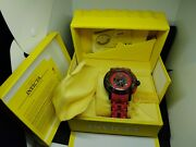 New Sea Spider 5536 Men's Red Black Chronograph Date Analog Watch