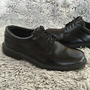 Mens 7.5 M Deer Stags Times Black Oxford Dress Shoes Leather Wide Lace Up Supro