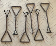 Vintage Antique 5/8 Numbers 0 1 2 3 4 6 Branding Irons 6 Piece Collectible
