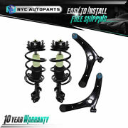 2x Front Strut Assembly + 2x Front Lower Control Arm For 2007-2012 Dodge Caliber