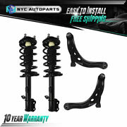 2x Front Strut And Spring + 2x Front Lower Control Arm For 2004-2012 Ford Escape