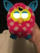 2012 Furby Boom Hasbro Interactive Rested Pink White Polka Dot Works Great