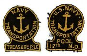 Ww2 Wwii Us Navy Transportation Treasure Isle And 12th Pool N.d. Patch Ssi