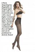 6 Pack Sanpellegrino Doppiofilo 22. Elegant Tights Made With Two Twisted Thread