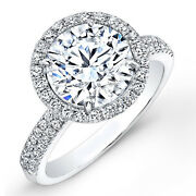 Natural 0.40 Ct Real Round Cut Diamond Engagement Ring 14k White Gold Size 8.5