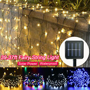 39ft Led Christmas Tree Fairy String Xmas Party Lights Solar Powered Waterproof