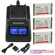 Kastar Battery Lcd Fast Charger For Np-90 Cnp90 And Casio Exilim Ex-h20g Ex-h20gbk