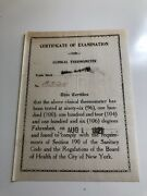 1921 Certificate Of Examination For Clinical Thermometer