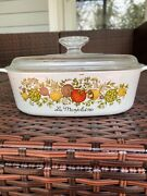 Vintage Corning Ware La Marjolaine Spice Of Life 2-quart A-2-b With Lid