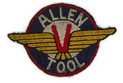 Ww2 Wwii Us Home Front Allen Tool Victory Wings Patch Ssi
