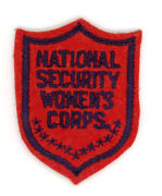 Ww2 Wwii Us Home Front National Security Women's Corps Patch Ssi