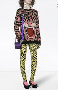 Lurex Wool Tiger Sweater Top- With Tags- Rrp2580 Aud
