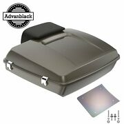 Advanblack River Rock Gray Razor Tour Pack Trunk Luggage For 1997-2020 Harley