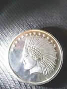 Silvertowne Indian Head And Eagle 1 Oz Silver Round