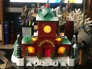 Train Station // Christmas Village // With Lights-3aa Battery Operated