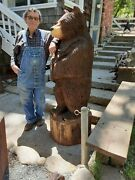 Chainsaw Carving Rustic Bear 5and039 To 6and039