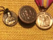 Gar Civil War And,pendant Button Civil War Religious Medal🥇safe Patented May 22