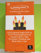 New Holiday Home-70 Orange Mini Lights-17.5 Ft.-incandescent-free Shipping