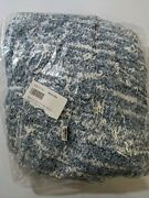 West Elm Marled Luxe Chenille Throw 50w X 60l Blue Bird 100 Polyester New