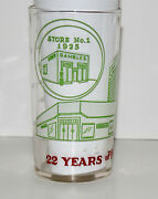 Vintage 1947 Gambles Stores 22 Years Of Progress Measuring Glass Advertising Cup