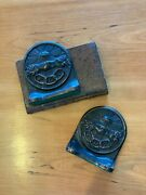 Independent Order Of Odd Fellows Vintage Bookends Cast Iron Eye Hand Statue