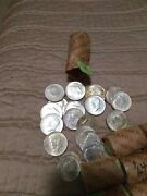 1964 90 U S Kennedy Half Dollars In 50 Face Lots 5 Roll - 100 Coin Lots