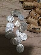 Mixed 90 Franklin Half Dollars In 50 Face Lots 5 Roll - 100 Coin Lot